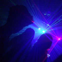 Lasers in a club atmosphere